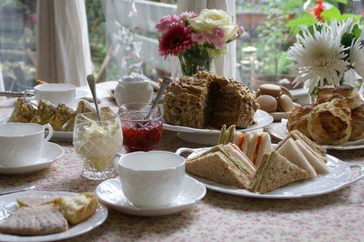 Afternoon tea tasting with Caroline - tea table