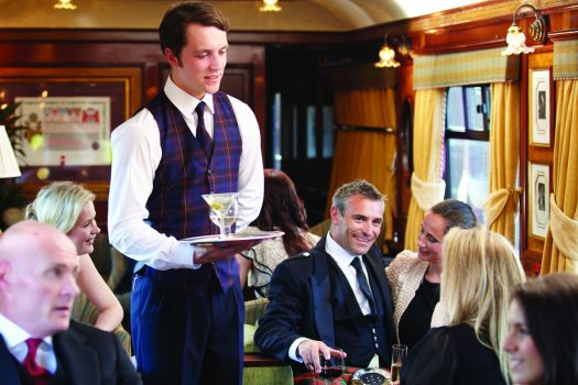 Belmond Royal Scotsman - Busy Bar Car ©Matt Hind