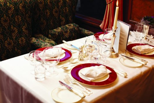 Belmond Royal Scotsman - Table set for dinner ©Matt Hind