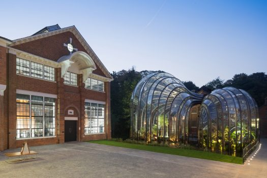 Bombay Sapphire Distillery, Whitchurch, Hampshire - The Glasshouses and India House - our main still house