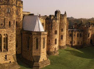 Castle exterior, Alnwick Castle, Northumberland