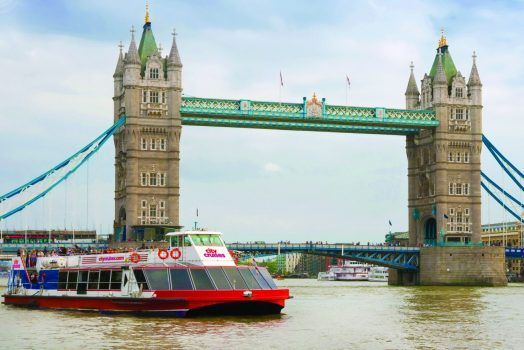 City cruises and tower bridge