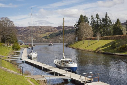 Inverness, Scotland - Caledonian Canal at Fort Augustus where it joins Loch Ness © VisitScotland, Kenny Lam