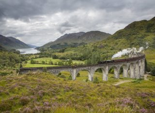 Jacobite Steam Train, Glenfinnan, Viaduct, Scotland, Outlander