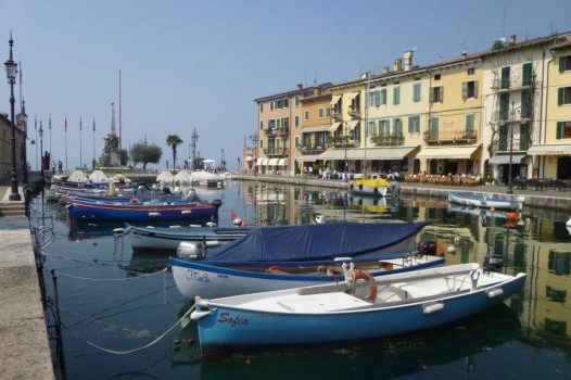 Lake Garda boats at the harbour, Italy - European Travel