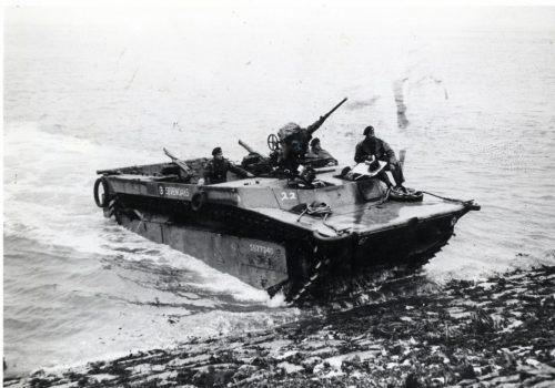 Liberation Route, Netherlands - Battle of the Scheldt - Buffalo landing on the shore of Baarland © Liberation Museum Zeeland