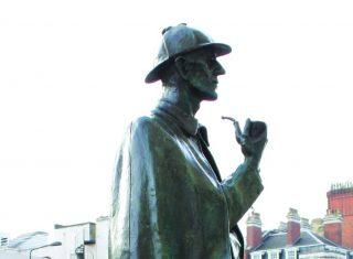 Sherlock Holmes statue ©The Sherlock Holmes Museum, 221b Baker Street, London, England www.sherlock-holmes.co.uk