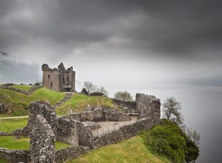 Urquhart Castle Cloudy Sky ©Historic Scotland