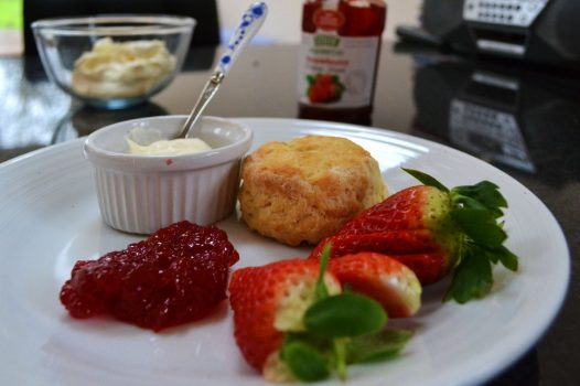 Homemade Scones and afternoon tea