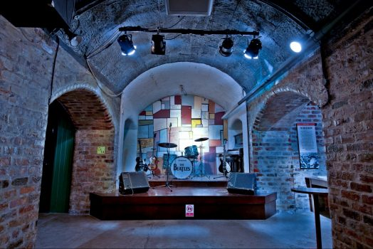 Cavern club stage, Liverpool where the Beatles used to perform